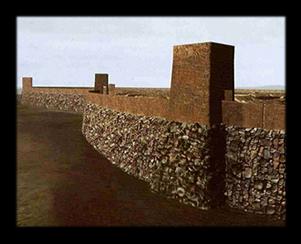 Reconstrucción de la muralla de Numancia