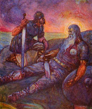 an analysis of the symbolism in beowulf an anglo saxon epic Only a single manuscript of beowulf survived the anglo-saxon era for many centuries,  or no knowledge of the epic it was not until the mid-  analysis of major.
