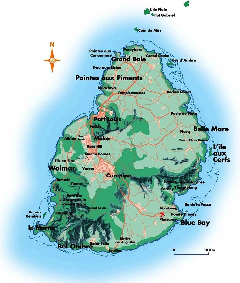 Isla Mauricio Mapa | Metro Map | Bus Routes | Metrobus Way Map ...