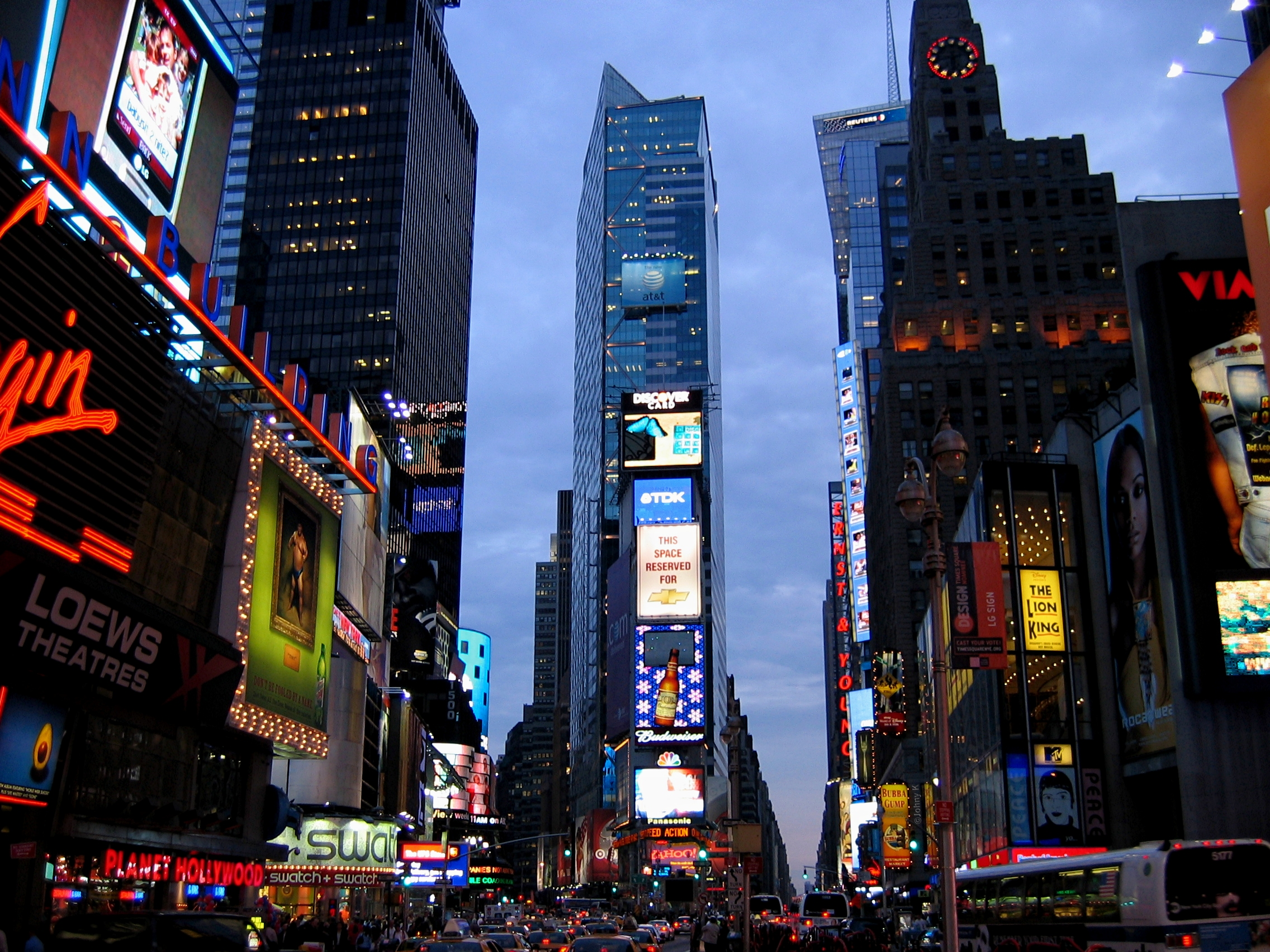 Times square new york at dusk