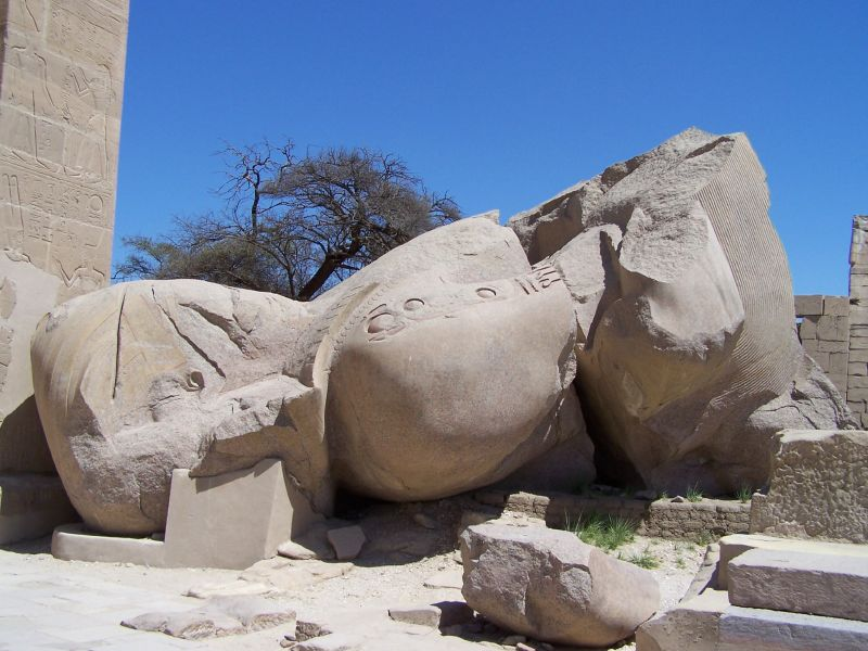 an analysis of the broken statue of ozymandias in egypt The broken statue can symbolize the decay of civilization and culture in egypt  analysis of ozymandias ozymandias is a fourteen-line,.